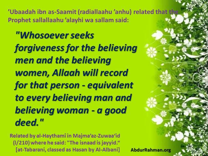 Seeking Forgiveness for Each believing Man and Woman