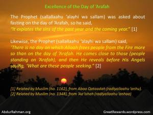 Excellence of the Day of 'Arafah