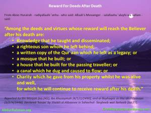 Sadaqa Jaariya - Reward For Deeds After Death
