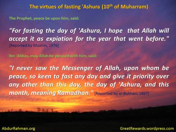 The virtues of fasting 'Ashura