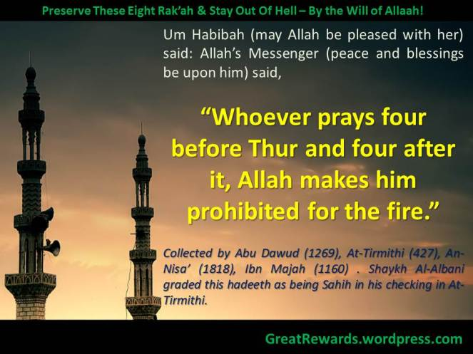 Preserve These Eight Rak'ah & Stay Out Of Hell – By the Will of Allaah!