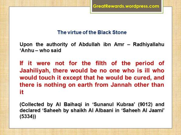 The virtue of the Black Stone