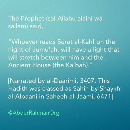 Surat al-Kahf-reciting-on-friday