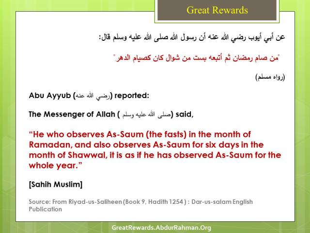 It Is As If He Has Observed The Fasting For The Whole Year